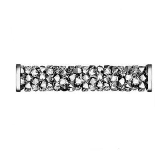 Swarovski 5950 tube acier inoxydable 30mm crystal light chrome