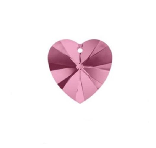 Swarovski 6228 pendentif coeur 10mm light rose