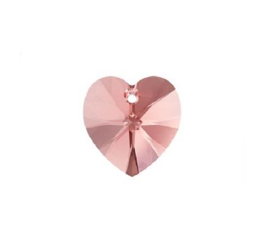 Swarovski 6228 pendentif coeur 10mm rose peach