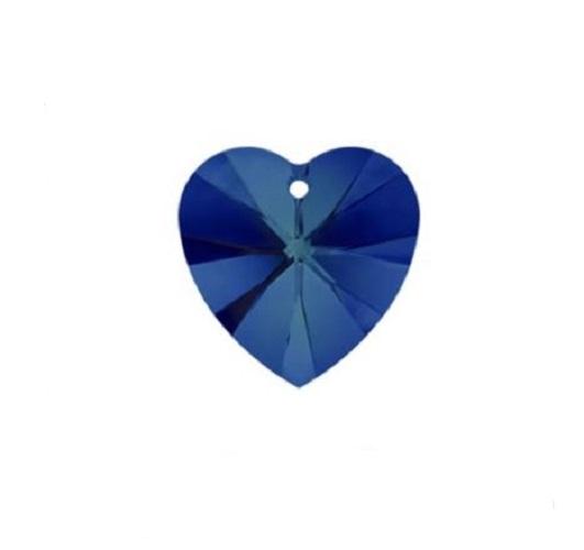 Swarovski 6228 pendentif coeur 10mm bermuda blue crystal