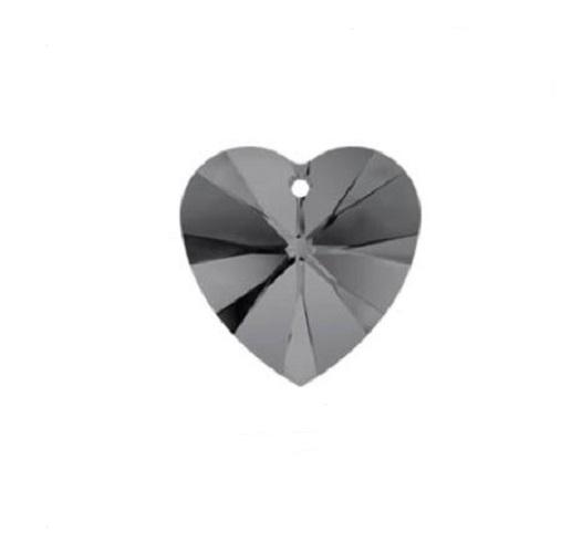 Swarovski 6228 pendentif coeur 10mm graphite