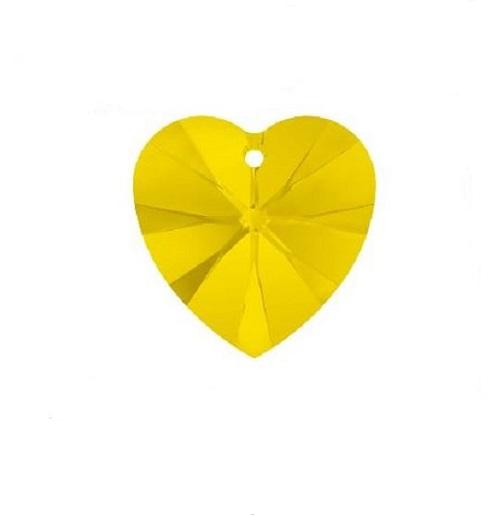 Swarovski 6228 pendentif coeur 10mm yellow opal