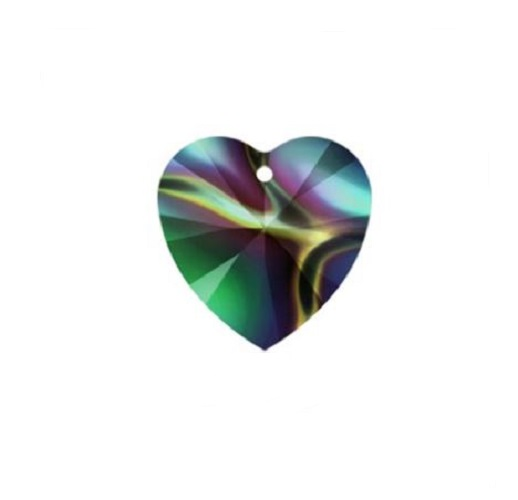 Swarovski 6228 pendentif coeur 10mm crystal rainbow dark