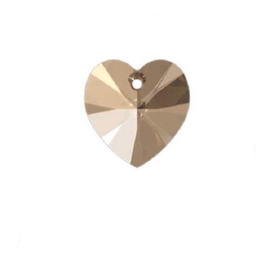 Swarovski 6228 pendentif coeur 10mm light colorado topaz