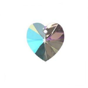 Swarovski 6228 pendentif coeur 10mm crystal shimmer