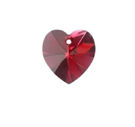 Swarovski 6228 pendentif coeur 10mm scarlet