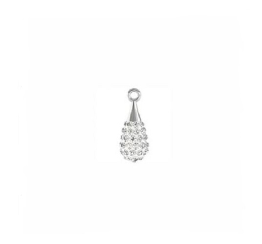 Swarovski 67 563 pendentif pave drop rhodium 14mm crystal/white