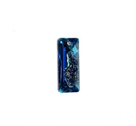 Swarovski 6925 pendentif rectangle 26mm crystal bermuda blue