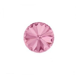 Swarovski 1122 rivoli 12mm light rose