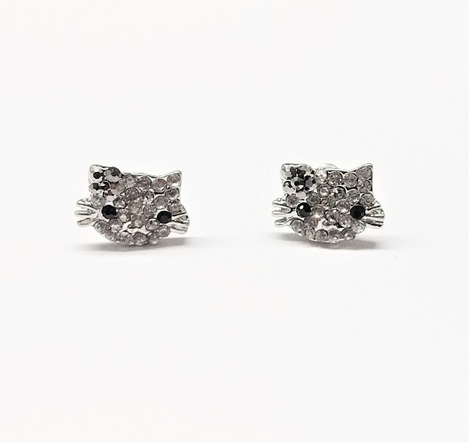 Boucle d'oreille chat 12mm