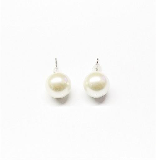 Boucle d'oreille perle 12mm