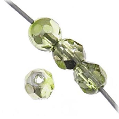 Verre poli au feu 4mm Olive green metallic half coat