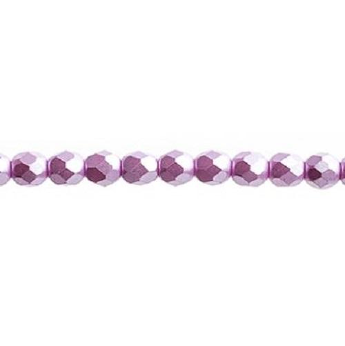 Verre poli au feu 4mm Pearl pastels lilac