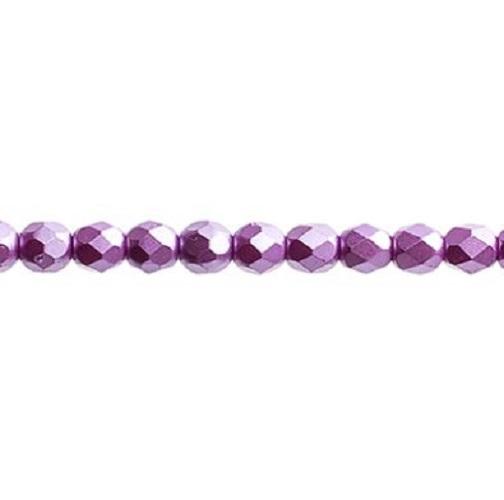 Verre poli au feu 4mm Pearl pastels violet