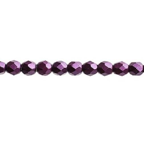 Verre poli au feu 4mm Pearl pastels purple