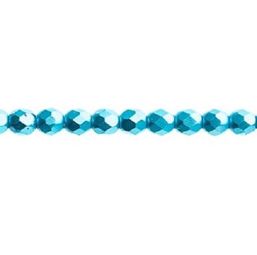 Verre poli au feu 4mm Pearl pastels turquoise