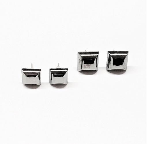 Boucle d'oreille duo carré 10mm/12mm