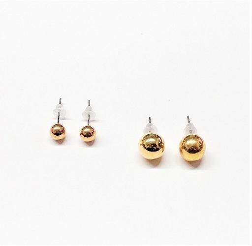 Boucle d'oreille duo boule 4mm/8mm