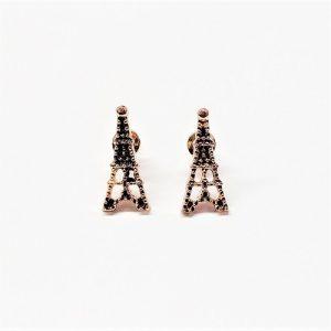 """Boucle d'oreille """"Tour Eiffel"""" 18mm"""