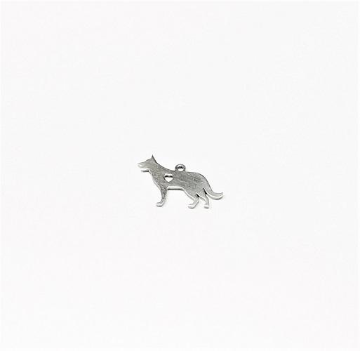 Acier inoxydable 304 pendentif chien 15 x 23mm