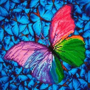 "Diamond Dotz  - Flutter By Pink 15"" x 15"""