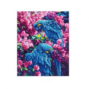 "Diamond Dotz - Blue Parrots 20.5"" x 16.51"""