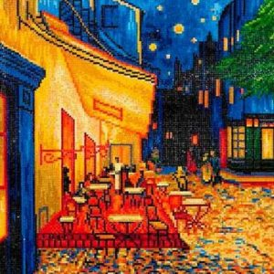 "Diamond Dotz - Cafe At Night (Van Gogh) 20.5"" x 16.5"""