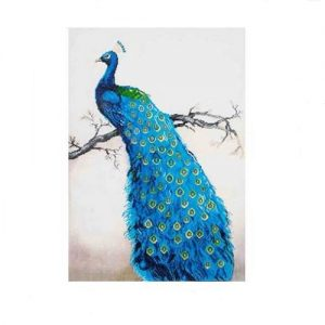 "Diamond Dotz - Blue Peacock 22"" x 28"""